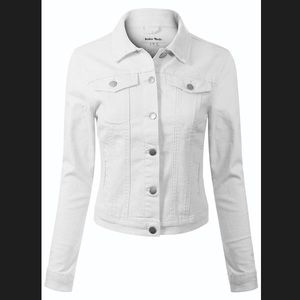 White Denim jacket!!!